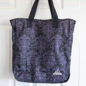 Adidas Ava Tote Bag! Purple & Black. W/ Int Pocket
